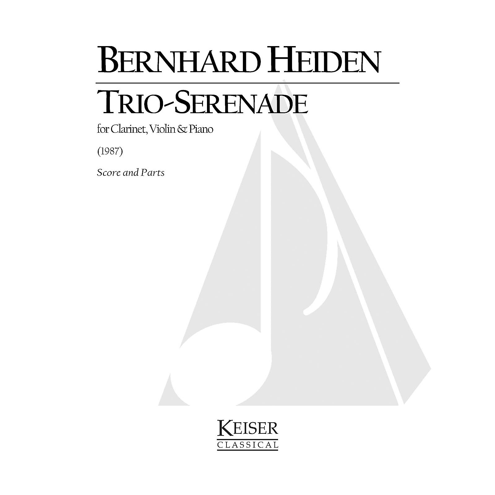 Lauren Keiser Music Publishing Trio-Serenade for Clarinet, Violin and Piano LKM Music Series Composed by Bernhard Heiden