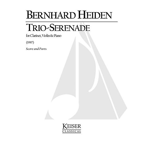 Lauren Keiser Music Publishing Trio-Serenade for Clarinet, Violin and Piano LKM Music Series Composed by Bernhard Heiden