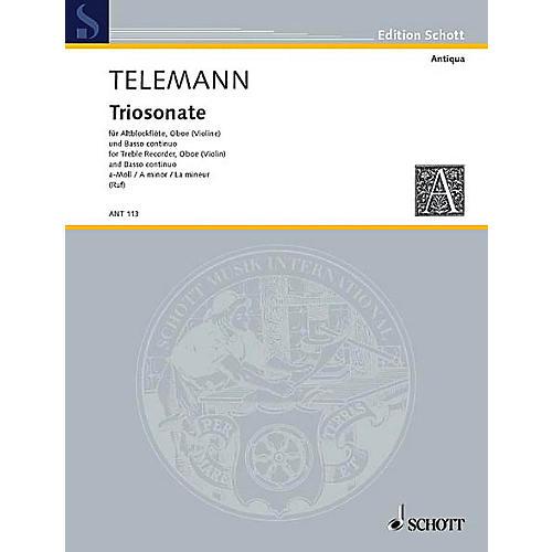 Schott Trio Sonata A Minor Schott Series by Georg Philipp Telemann