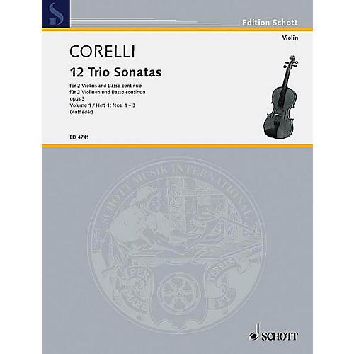 Schott Music Trio Sonatas Op. 3, Nos. 1-3 (Score and Parts) Schott Series Composed by Arcangelo Corelli