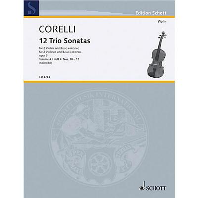 Schott Music Trio Sonatas Op. 3, Nos. 10-12 (Score and Parts) Schott Series Composed by Arcangelo Corelli