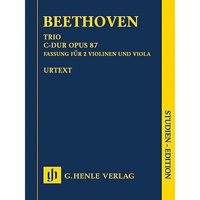 G. Henle Verlag Trio in C Major, Op. 87 Henle Study Scores Softcover Composed by Ludwig van Beethoven Edited by Egon Voss