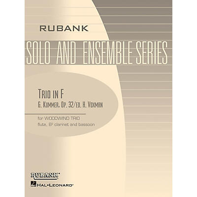 Rubank Publications Trio in F (Woodwind Trio - Grade 3) Rubank Solo/Ensemble Sheet Series