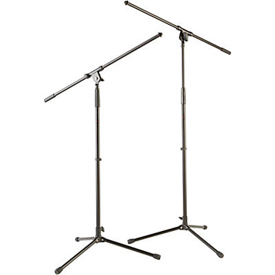 Musician's Gear Tripod Mic Stand with Fixed Boom (2-Pack)