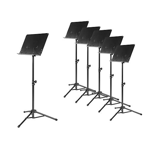 Musician's Gear Tripod Orchestral Music Stand 6-Pack, Black