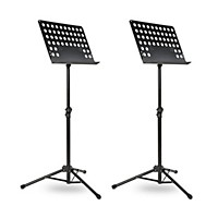 Deals on 2 Pack Musicians Gear Tripod Orchestral Music Stand Perforated