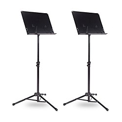 Tripod Orchestral Music Stand Regular Black - 2 Pack