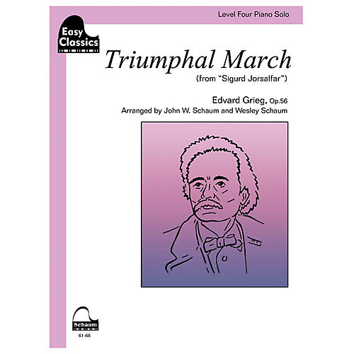 SCHAUM Triumphal March, Op. 56 Educational Piano Book by Edvard Grieg (Level Inter)