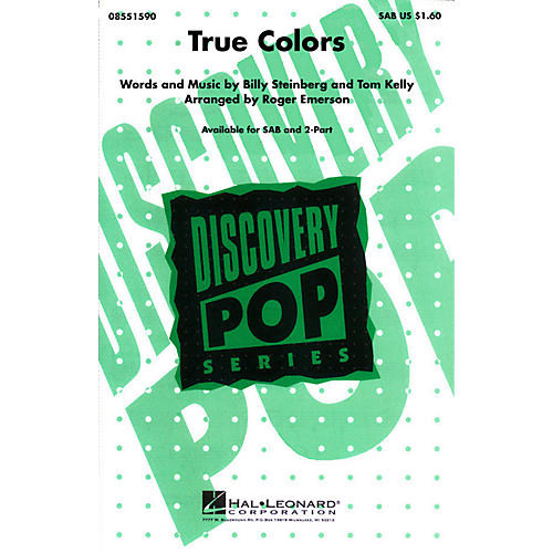 Hal Leonard True Colors 2-Part by Cyndi Lauper Arranged by Roger Emerson