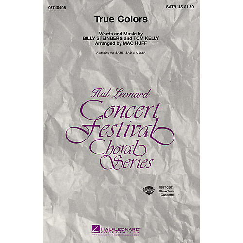Hal Leonard True Colors ShowTrax CD Arranged by Mac Huff
