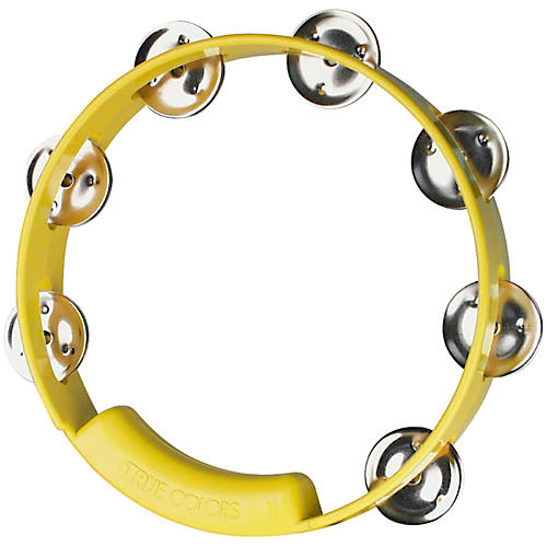 Rhythm Tech True Colors Tambourine Yellow 8 in.