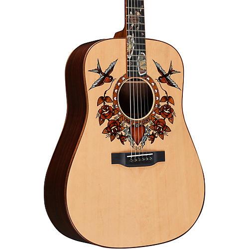 Martin True Love Sailor Jerry Dreadnought Acoustic Guitar Natural