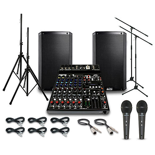 Alto Truesonic TS212 with Peavy PV10AT Mixer PA System