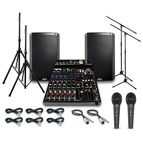 Alto Truesonic TS215 with Peavy PV10AT Mixer PA System