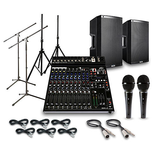 Alto Truesonic TS215 with Peavy PV14AT Mixer PA System