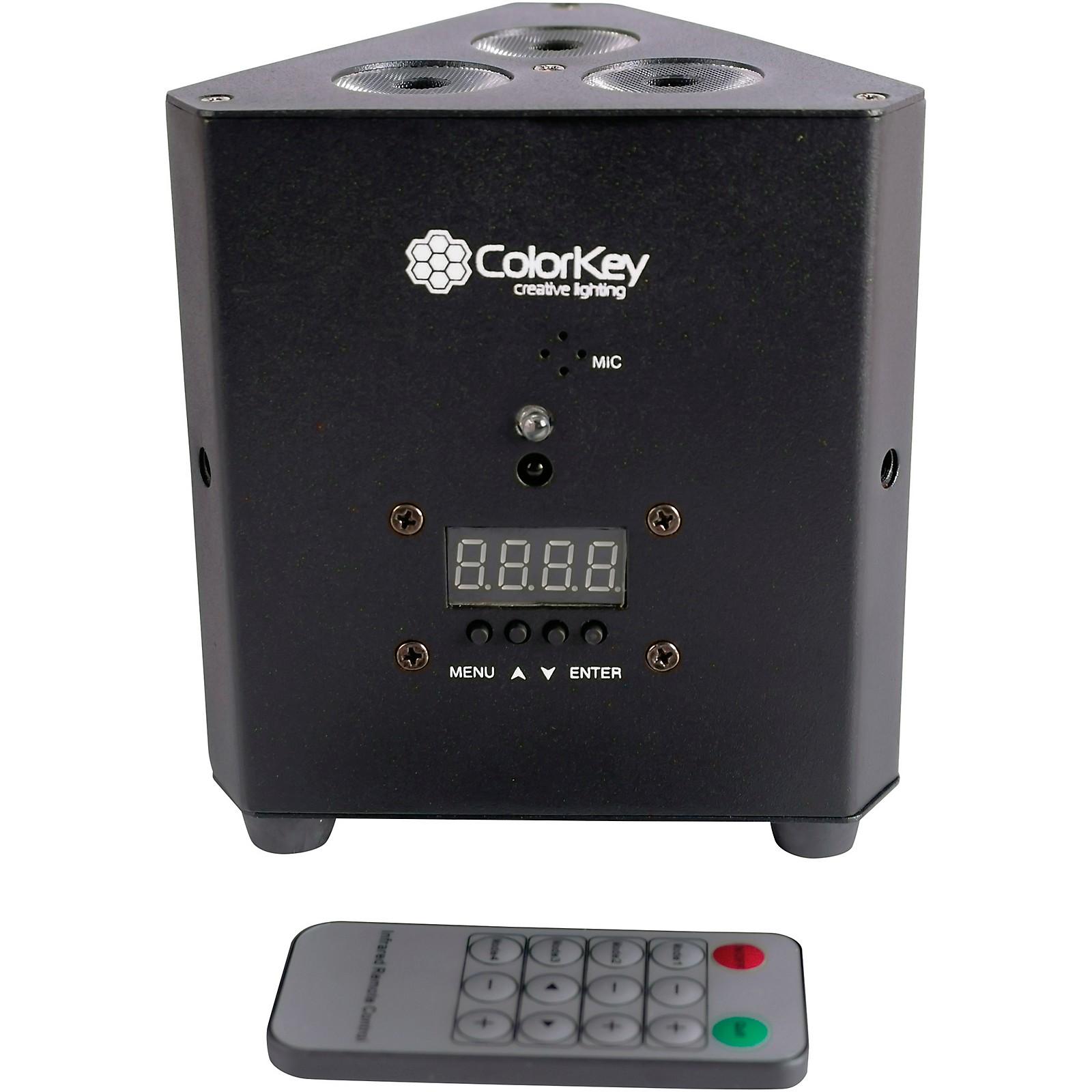 ColorKey TrussPar QUAD 3 RGBW LED PAR Uplight Wash Light, Black