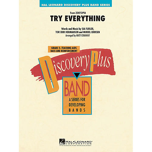Hal Leonard Try Everything (from Zootopia) - Discovery Plus Concert Band Series Level 2 arranged by Matt Conaway