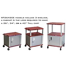 H. Wilson Tuffy Cart with Lockable Cabinet