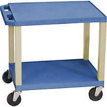 "Open Box H. Wilson Tuffy Plastic 26"" 2 Shelf Utility Cart"