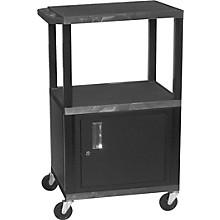 "H. Wilson Tuffy Plastic 26"" to 42"" 3 Shelf Cart"