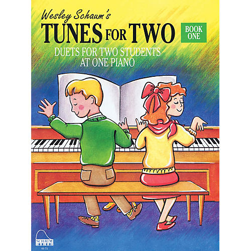 SCHAUM Tunes for Two - Book 1 Educational Piano Book (Level Elem)