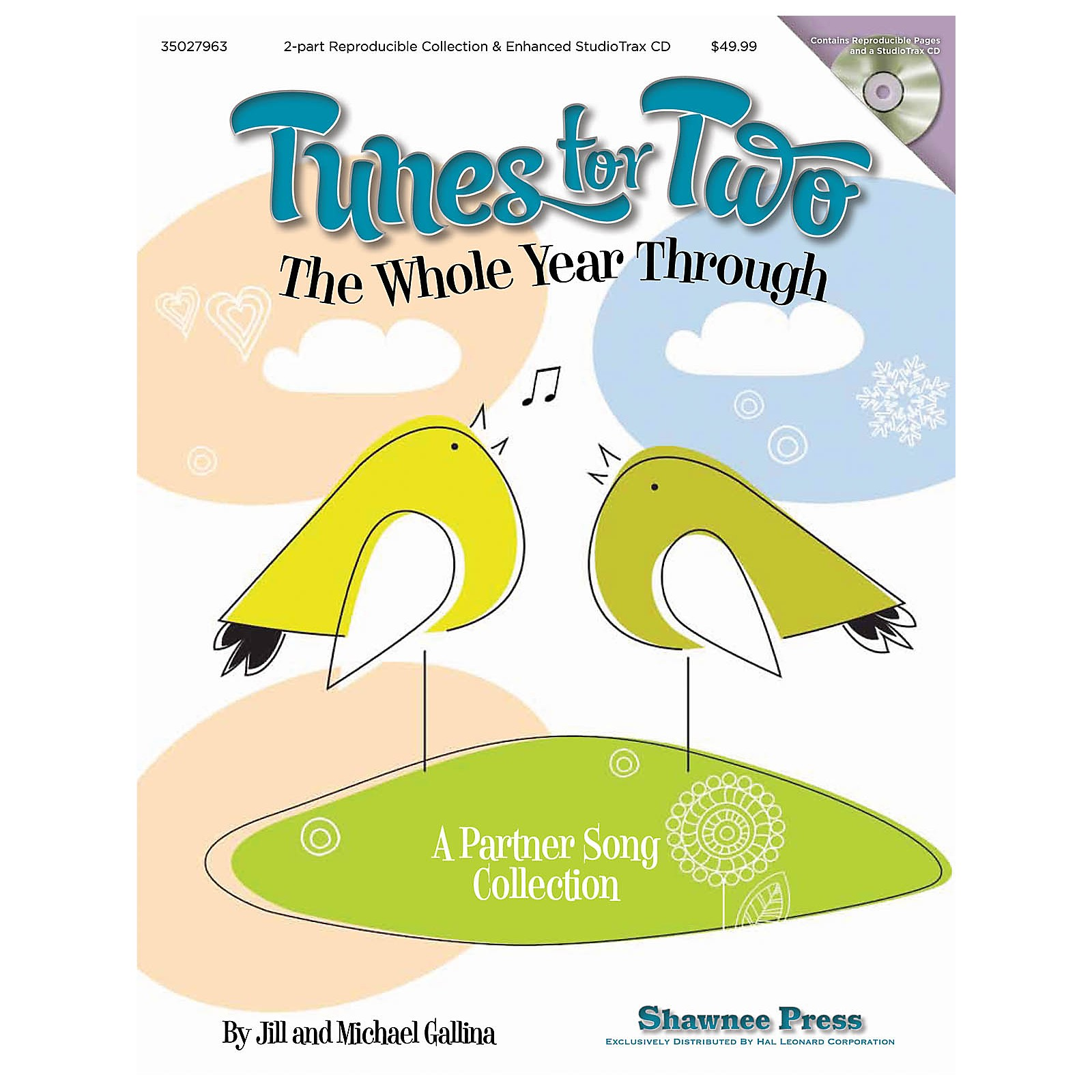 Shawnee Press Tunes for Two the Whole Year Through (A Partner Song Collection) 2-Part Book and CD by Jill Gallina