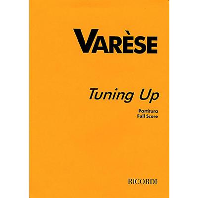 Ricordi Tuning Up (Full Score) Study Score Series Composed by Edgard Varèse