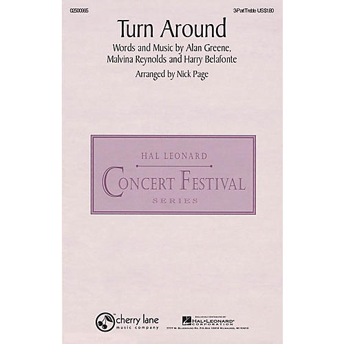 Hal Leonard Turn Around 3 Part Treble arranged by Nick Page