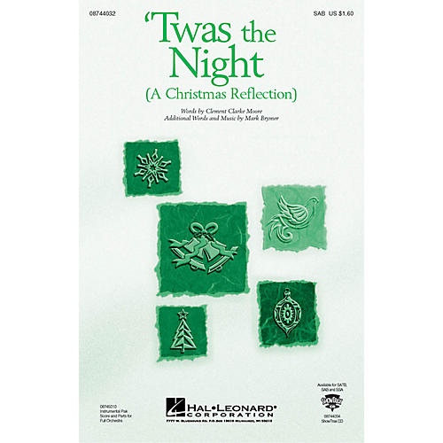 Hal Leonard Twas the Night (A Christmas Reflection) (from The Christmas Suite) SAB composed by Mark Brymer