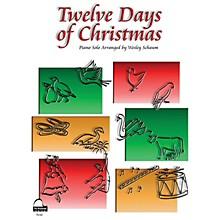 SCHAUM Twelve Days of Christmas Educational Piano Series Softcover