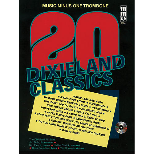 Music Minus One Twenty Dixieland Classics (Music Minus One Trombone) Music Minus One Series Softcover with CD