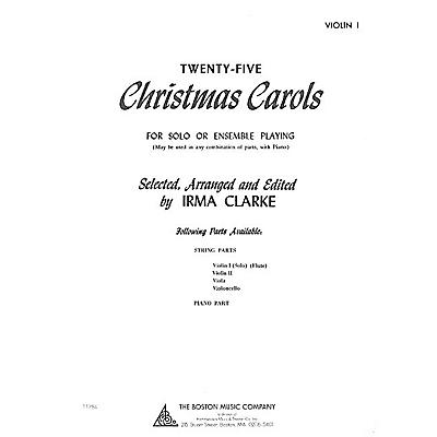 Music Sales Twenty-Five Christmas Carols - Violin I (for Solo or Ensemble Playing) Music Sales America Series
