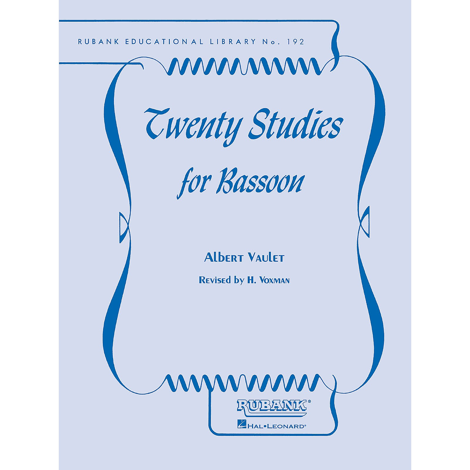 Rubank Publications Twenty Studies for Bassoon Woodwind Method Series