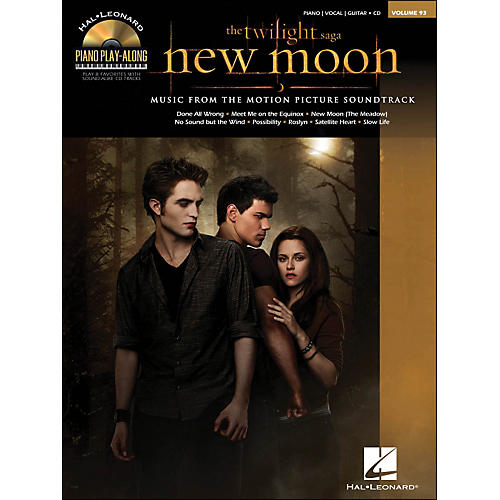 Hal Leonard Twilight: New Moon Music From The Soundtrack Book/CD Piano Play-Along Volume 93 arranged for piano, vocal, and guitar (P/V/G)