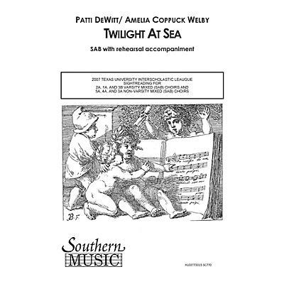 Hal Leonard Twilight at Sea (Choral Music/Octavo Secular Sab) SAB Composed by Dewitt, Patti