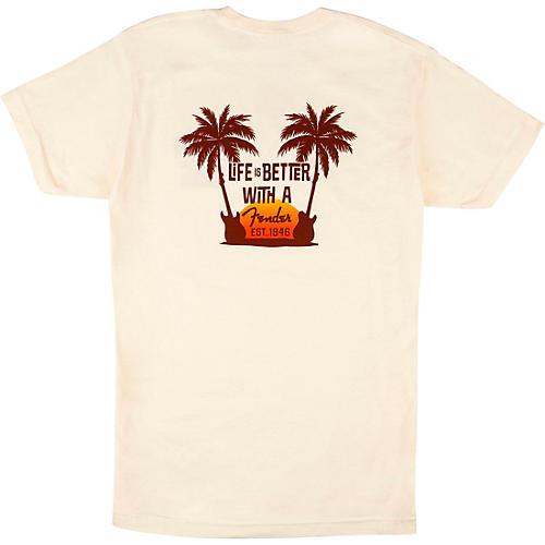 Fender Twin Palms T-Shirt Large Tan