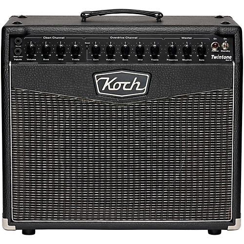 Koch Twintone III 50W 1x12 Tube Guitar Combo Amp Black and Silver