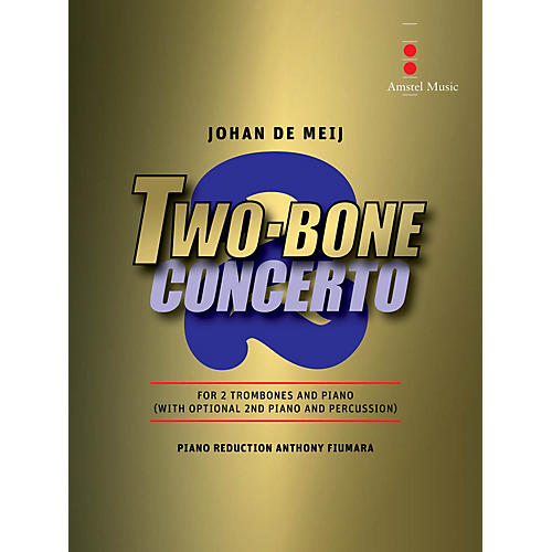 Amstel Music Two Bone Concerto (2 Trombones and Piano Reduction) Concert Band Level 6 Composed by Johan de Meij