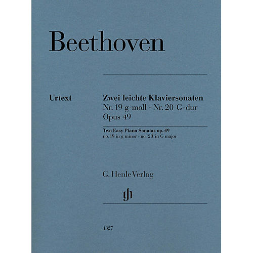 G. Henle Verlag Two Easy Piano Sonatas Nos. 19 and 20, Op. 49 by Beethoven