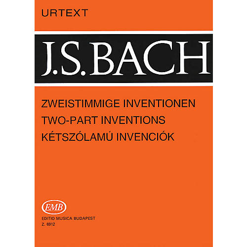 Editio Musica Budapest Two-Part Inventions, BWV 772-786 EMB Series Composed by Johan Sebastian Bach