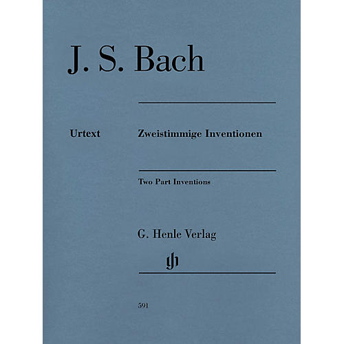 G. Henle Verlag Two Part Inventions Revised Edition - Paperbound with Fingerings Henle Music Folios Series Softcover