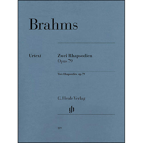 G. Henle Verlag Two Rhapsodies Op. 79 By Brahms