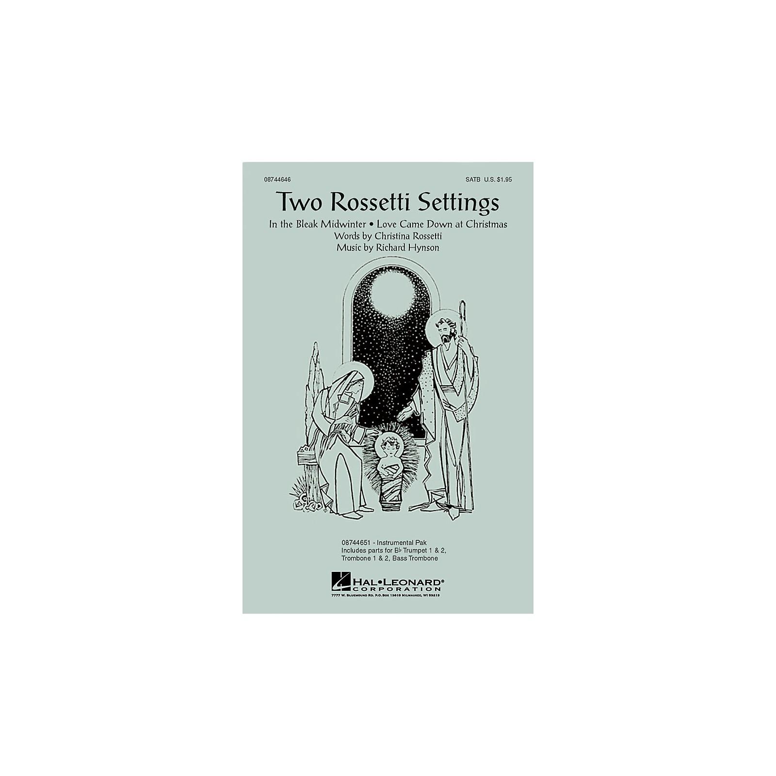 Hal Leonard Two Rossetti Settings IPAKB Composed by Richard Hynson