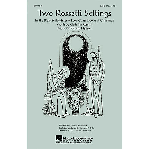 Hal Leonard Two Rossetti Settings SATB arranged by Richard Hynson