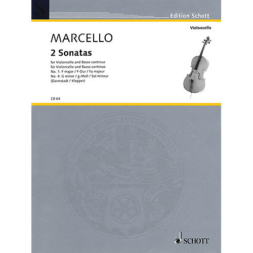 Schott Two Sonatas: No. 1 in F Major & No. 4 in G Minor (Cello and Basso Continuo) String Series
