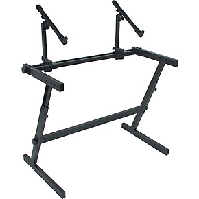 quik lok two tier z keyboard stand musician 39 s friend. Black Bedroom Furniture Sets. Home Design Ideas