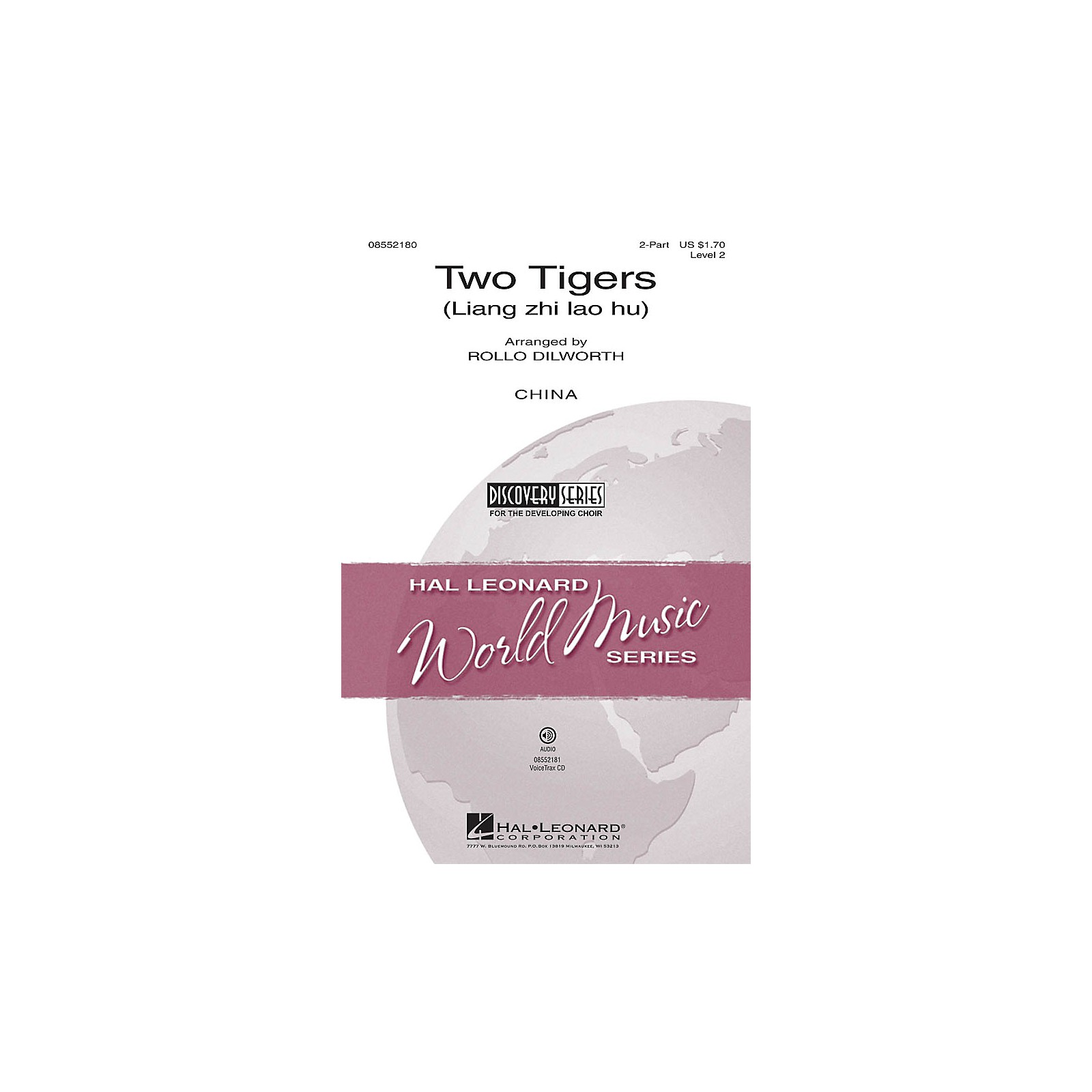 Hal Leonard Two Tigers (Liang zhi lao hu) Discovery Level 2 VoiceTrax CD Arranged by Rollo Dilworth