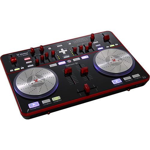 vestax typhoon dj midi controller with sound card musician 39 s friend. Black Bedroom Furniture Sets. Home Design Ideas