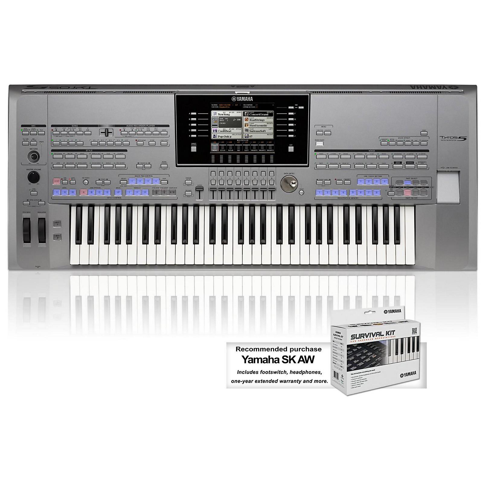 Yamaha Tyros5 61-Key Arranger Workstation
