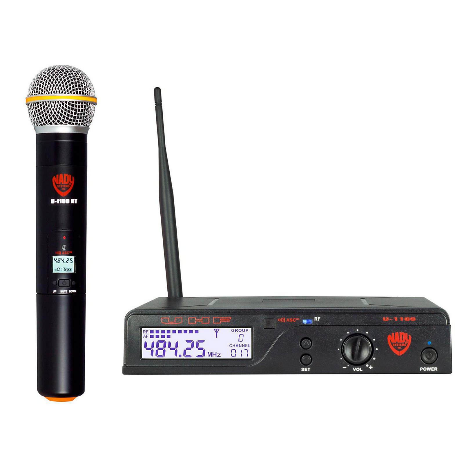 Nady U-1100 HT - 100 Channel UHF Handheld Wireless Microphone System
